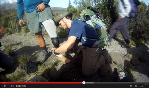 Video: Combat Wounded Veteran Challenge Kilimanjaro Research Expedition of 2013 – Explorers Club Flag #93