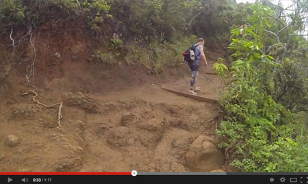 Video: Combat Wounded Veteran Challenge hike up Hanakapi'ai Falls in Kauai, HI