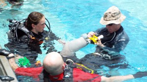 CWVC-scuba-Mia-in-pool-Vets