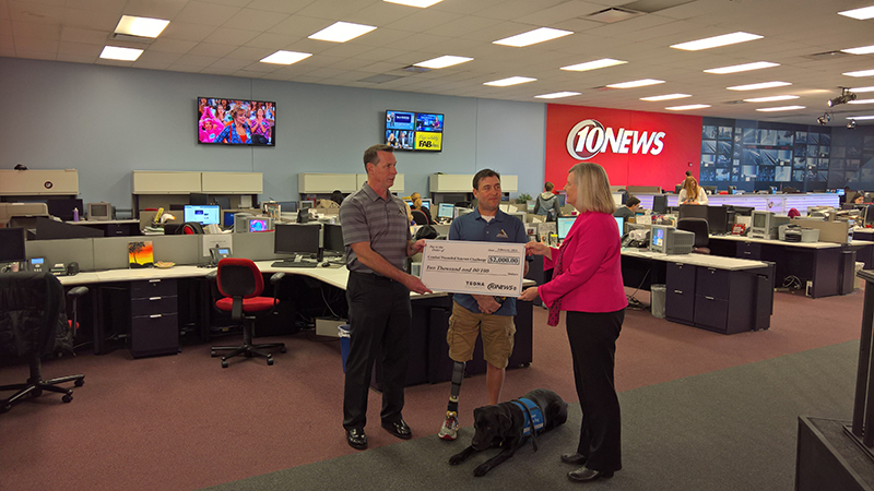 Channel 10 presents CWVC with grant