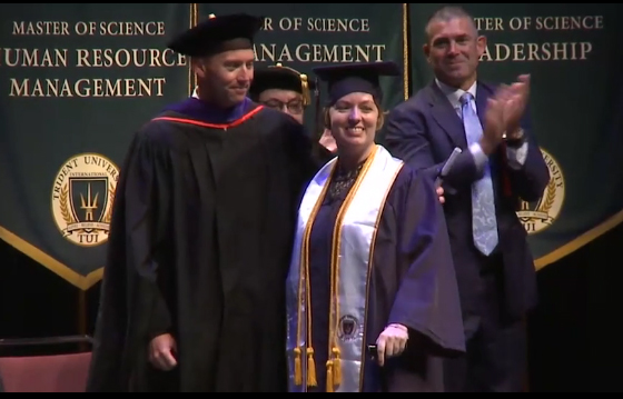Wounded Veteran earns her degree, and keeps inspiring others to never give up!