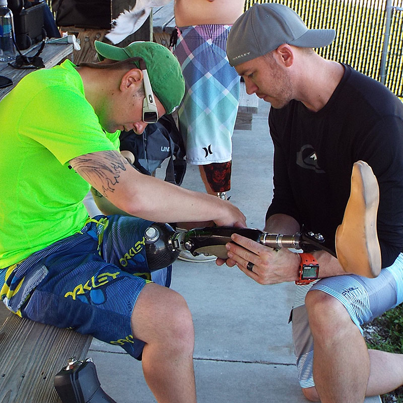 combat wounded veteran with prosthetist